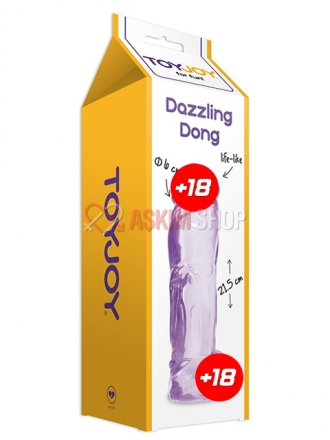 Toy Joy Dazzling Dong Purple Kalın Jel Penis